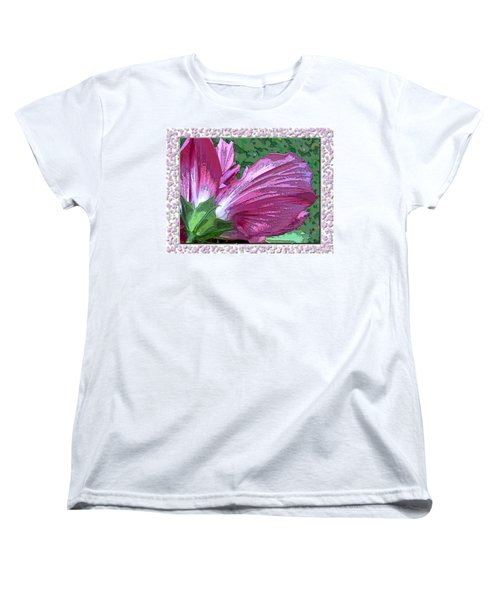Women's T-Shirt (Standard Cut) featuring the digital art Fancy Finish by Debbie Portwood