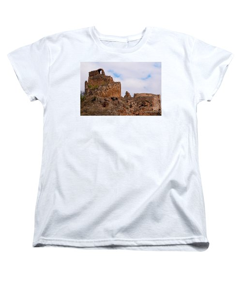Women's T-Shirt (Standard Cut) featuring the photograph Filakovo Hrad - Castle by Les Palenik
