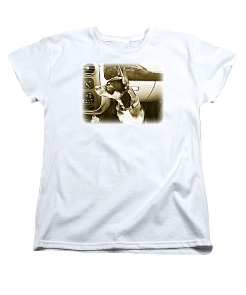 Women's T-Shirt (Standard Cut) featuring the photograph First Ride Home by Pamela Hyde Wilson