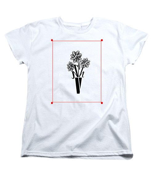 Women's T-Shirt (Standard Cut) featuring the photograph Flowers In Type by Connie Fox