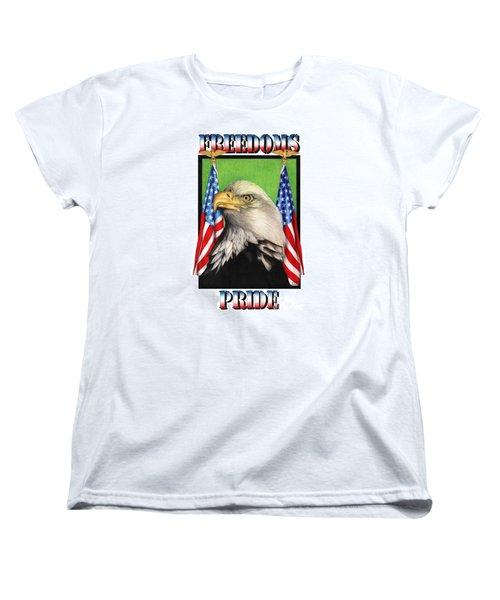 Freedoms Pride Women's T-Shirt (Standard Cut) by Sheryl Unwin