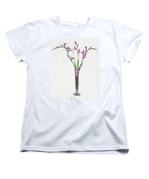 Freesias In Vase Women's T-Shirt (Standard Cut) by Susan Rovira