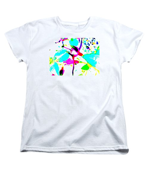 Women's T-Shirt (Standard Cut) featuring the digital art Fuchsia by Barbara Moignard