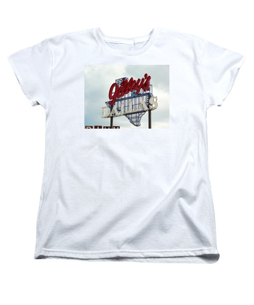 Women's T-Shirt (Standard Cut) featuring the photograph Gilleys Dallas by Charlie and Norma Brock