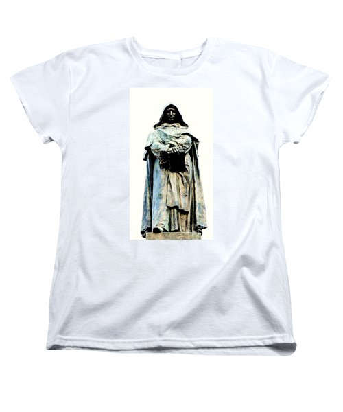 Giordano Bruno Monument Women's T-Shirt (Standard Cut) by Roberto Prusso