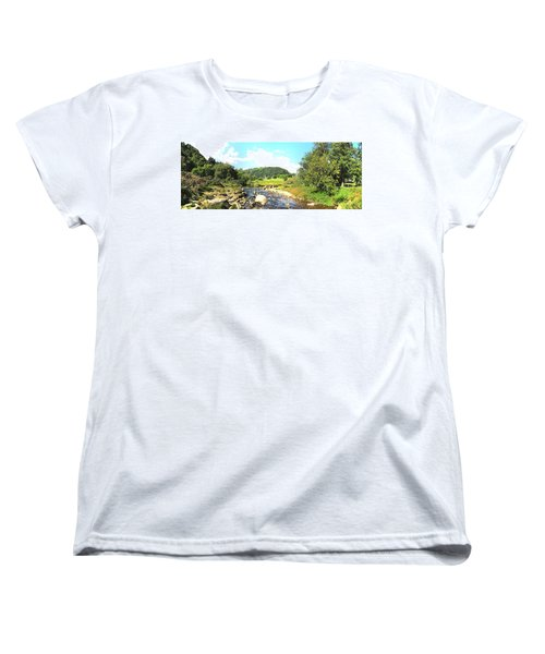 Glendalough Panorama Women's T-Shirt (Standard Cut) by Ian Kowalski
