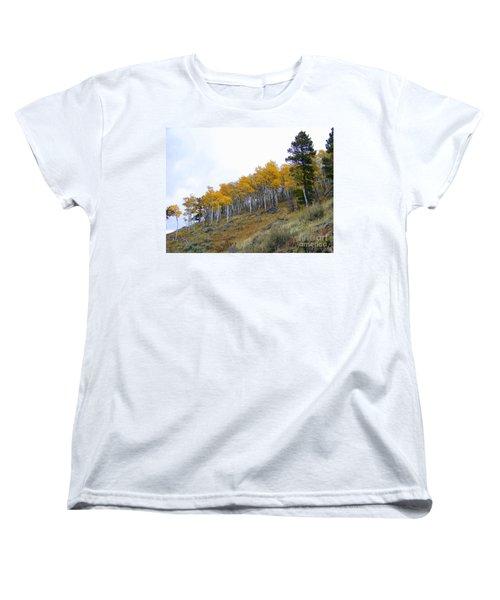 Golden Stand Women's T-Shirt (Standard Cut) by Dorrene BrownButterfield