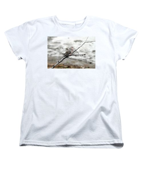 Women's T-Shirt (Standard Cut) featuring the photograph Good Morning Dove by Elizabeth Winter