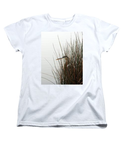 Women's T-Shirt (Standard Cut) featuring the photograph Great Blue Heron by Kay Lovingood