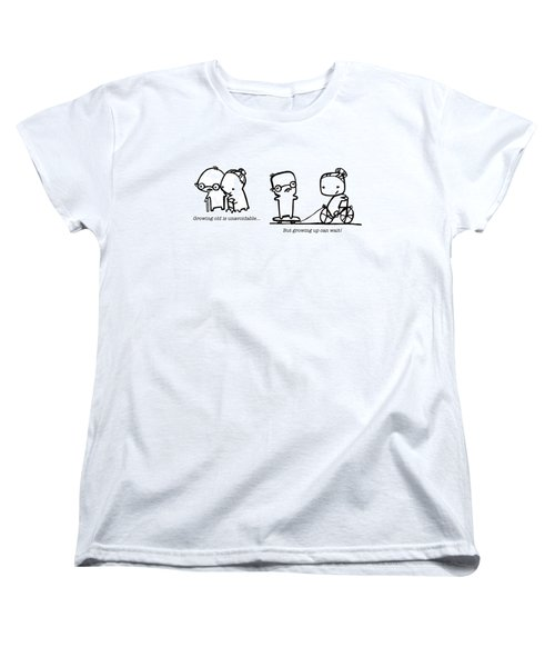 Women's T-Shirt (Standard Cut) featuring the drawing Growing Old by Leanne Wilkes