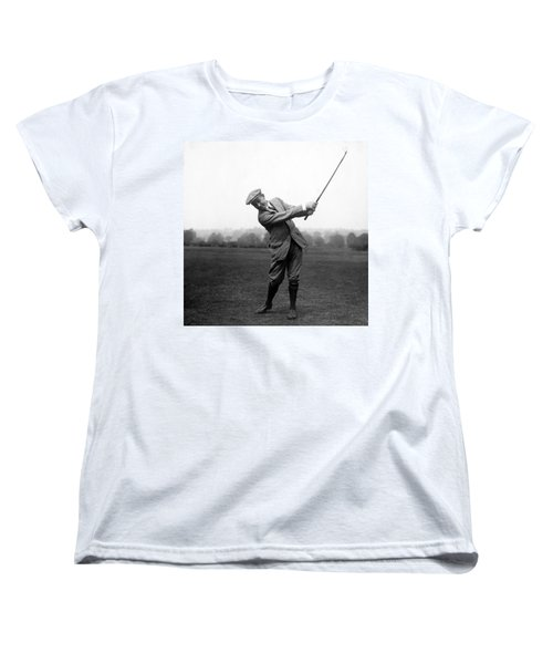 Women's T-Shirt (Standard Cut) featuring the photograph Harry Vardon Swinging His Golf Club by International  Images