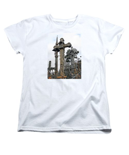 Hill Of Crosses 09. Lithuania Women's T-Shirt (Standard Cut) by Ausra Huntington nee Paulauskaite