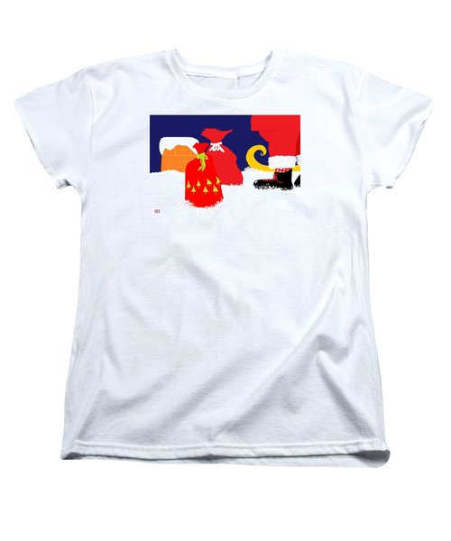 Women's T-Shirt (Standard Cut) featuring the digital art Ho Ho Ho by Barbara Moignard
