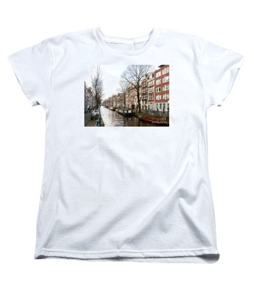 Homes Along The Canal In Amsterdam Women's T-Shirt (Standard Cut) by Carol Ailles