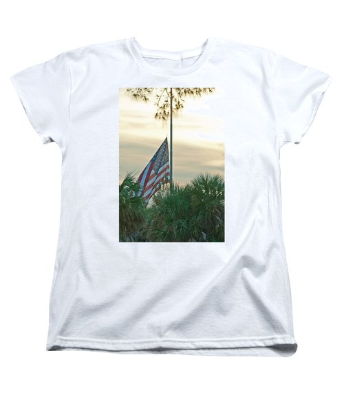 Honoring A Hero Women's T-Shirt (Standard Cut) by John Black