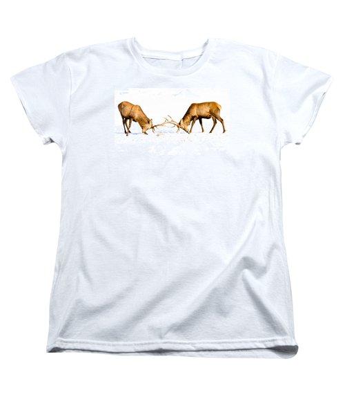 Horns A Plenty Women's T-Shirt (Standard Cut) by Cheryl Baxter