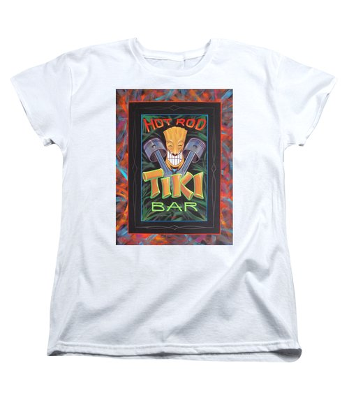 Hot Rod Tiki Bar Women's T-Shirt (Standard Cut) by Alan Johnson