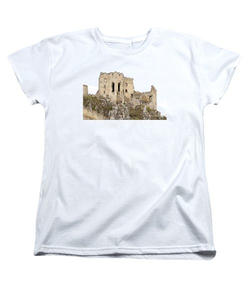 Women's T-Shirt (Standard Cut) featuring the photograph Hrad Beckov Castle by Les Palenik