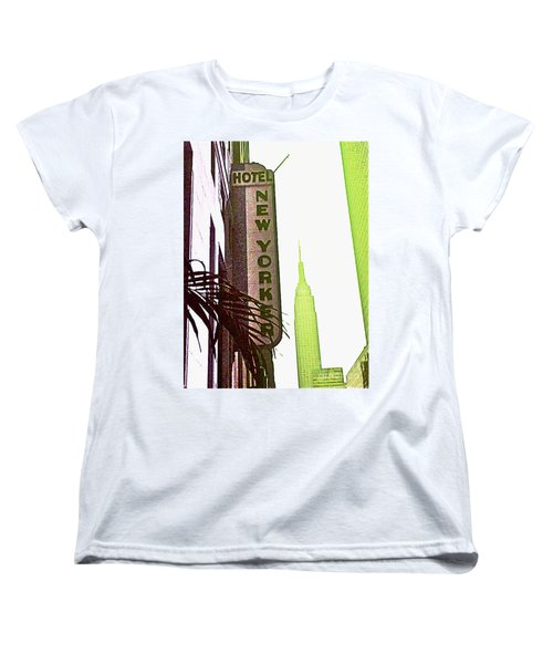 Women's T-Shirt (Standard Cut) featuring the photograph I Love New York by Beth Saffer