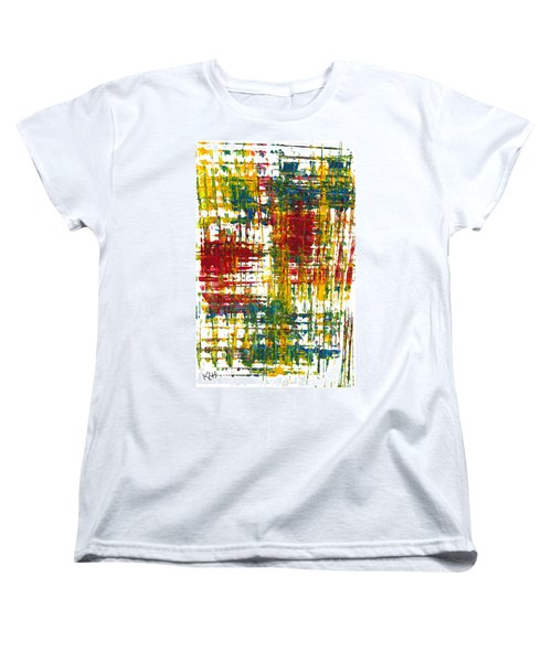Women's T-Shirt (Standard Cut) featuring the painting Inside My Garden 161.110411 by Kris Haas
