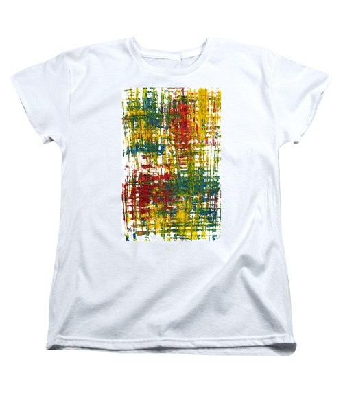 Women's T-Shirt (Standard Cut) featuring the painting Inside My Garden II 162.110411  by Kris Haas