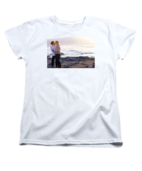 Kissed By The Ocean Women's T-Shirt (Standard Cut) by Dawn Eshelman