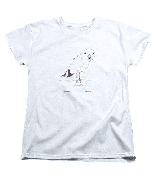 Laughing Seagull Women's T-Shirt (Standard Cut) by Fred Jinkins