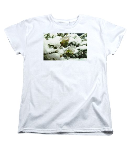Women's T-Shirt (Standard Cut) featuring the photograph Liquid Crystal  by Steve Taylor
