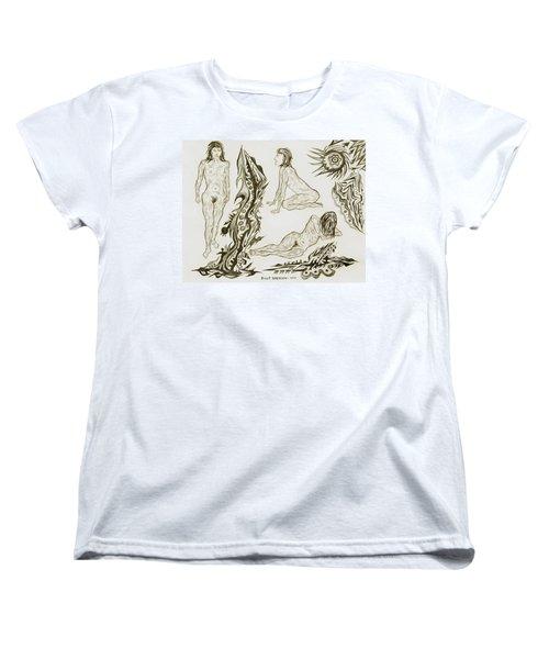 Live Nude 17 Female Women's T-Shirt (Standard Cut) by Robert SORENSEN