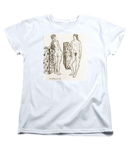 Live Nude 19 Female Women's T-Shirt (Standard Cut) by Robert SORENSEN