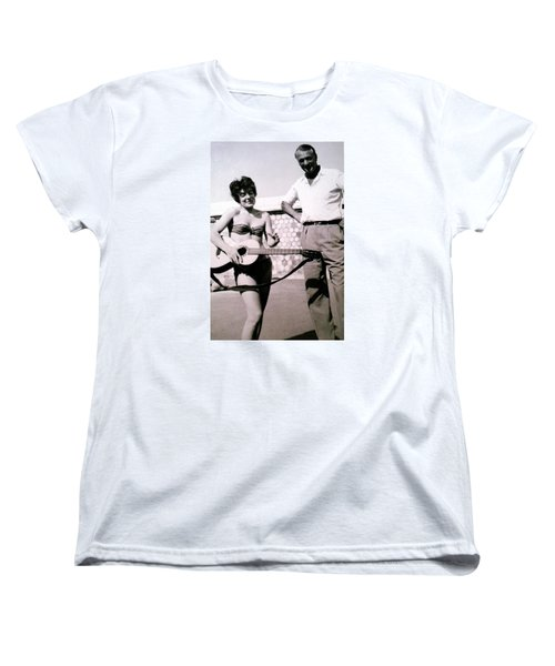 Mama Chris And Gary Cooper In Monte Carlo 1958 Women's T-Shirt (Standard Cut) by Colette V Hera  Guggenheim