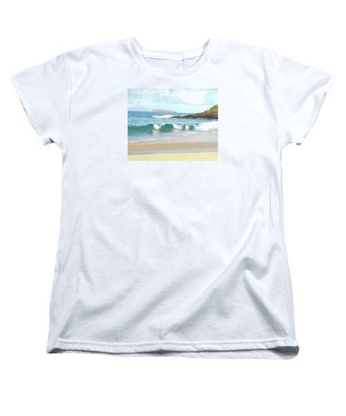 Maui Hawaii Beach Women's T-Shirt (Standard Cut) by Rebecca Margraf
