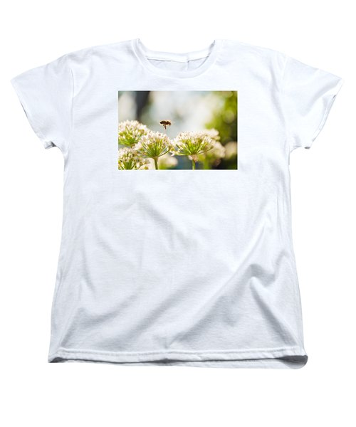 Women's T-Shirt (Standard Cut) featuring the photograph Mid-pollenation by Cheryl Baxter
