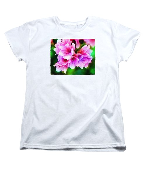 Miniature Azaleas Women's T-Shirt (Standard Cut) by Judi Bagwell