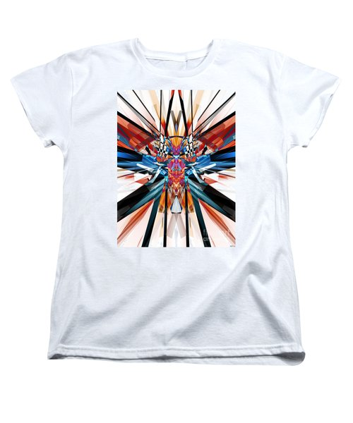 Women's T-Shirt (Standard Cut) featuring the digital art Mirror Image Abstract by Phil Perkins