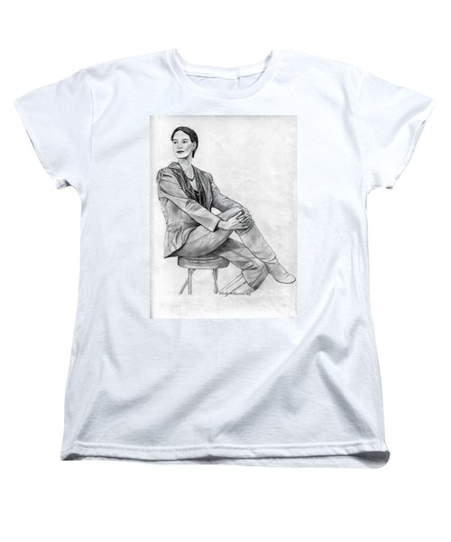 Women's T-Shirt (Standard Cut) featuring the drawing Model by Wendy McKennon