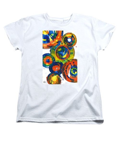 Women's T-Shirt (Standard Cut) featuring the painting My Magical Spheres    859.121811 by Kris Haas