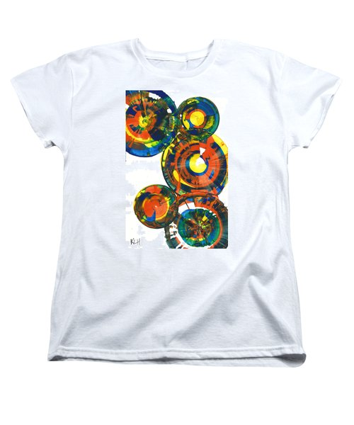 Women's T-Shirt (Standard Cut) featuring the painting My Spheres Show Happiness  864.121811 by Kris Haas