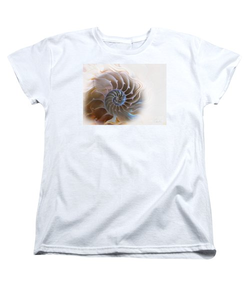 Natural Spiral Women's T-Shirt (Standard Cut) by Danuta Bennett