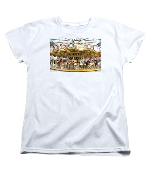 Women's T-Shirt (Standard Cut) featuring the photograph New York Carousel by Alice Gipson