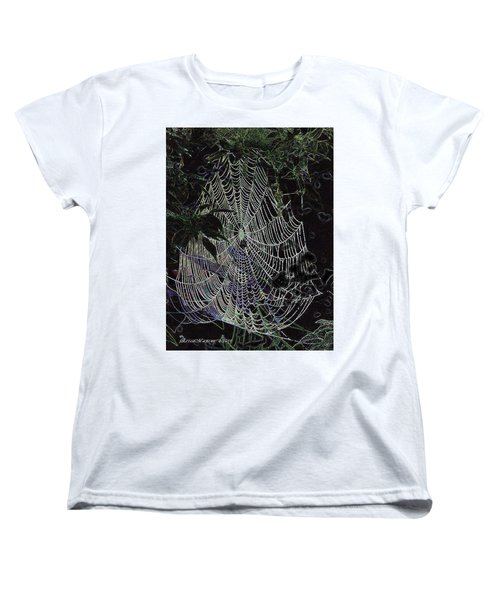 Women's T-Shirt (Standard Cut) featuring the photograph Night Lines by EricaMaxine  Price