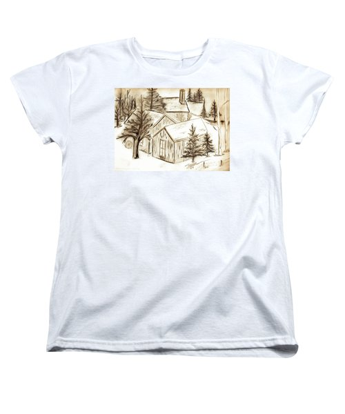 Women's T-Shirt (Standard Cut) featuring the drawing Old Colorado by Shannon Harrington