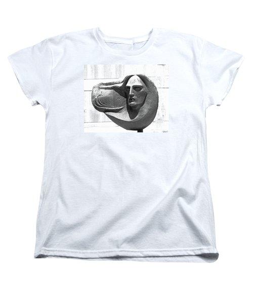 Oliver Pollock Statue  Women's T-Shirt (Standard Cut) by Lizi Beard-Ward