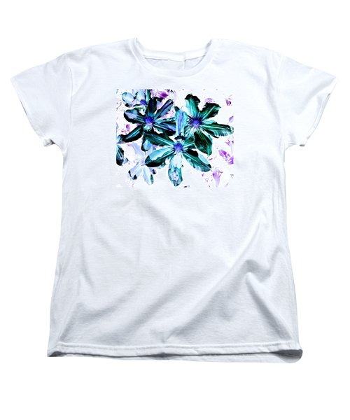 Women's T-Shirt (Standard Cut) featuring the photograph Organic Techno Flowers by Lisa Brandel