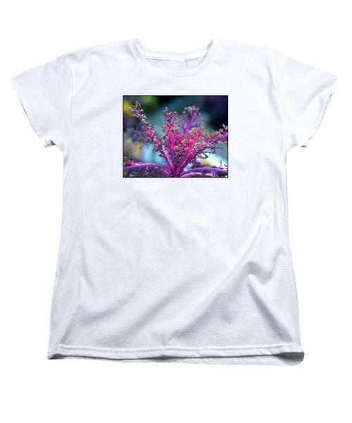 Ornamental Cabbage Women's T-Shirt (Standard Cut) by Judi Bagwell