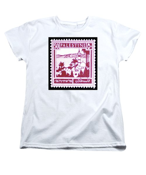 Palestine Vintage Postage Stamp Women's T-Shirt (Standard Cut) by Andy Prendy