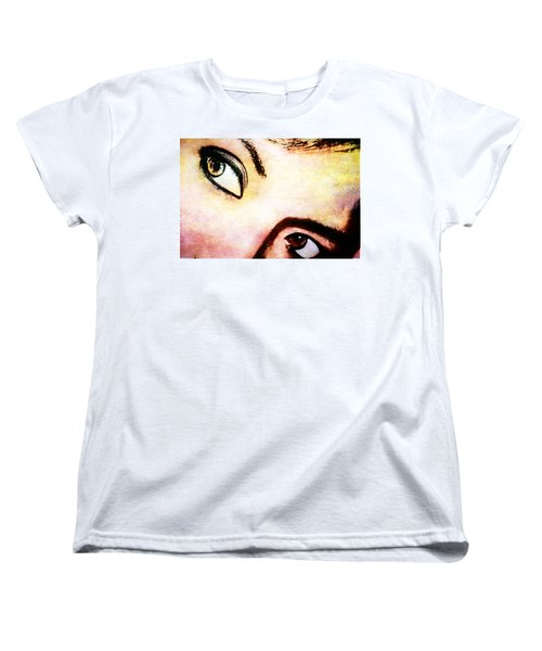 Women's T-Shirt (Standard Cut) featuring the photograph Passionate Eyes by Ester  Rogers