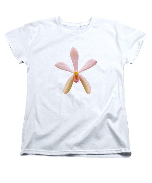 Pink Orchid Head Women's T-Shirt (Standard Cut) by Atiketta Sangasaeng