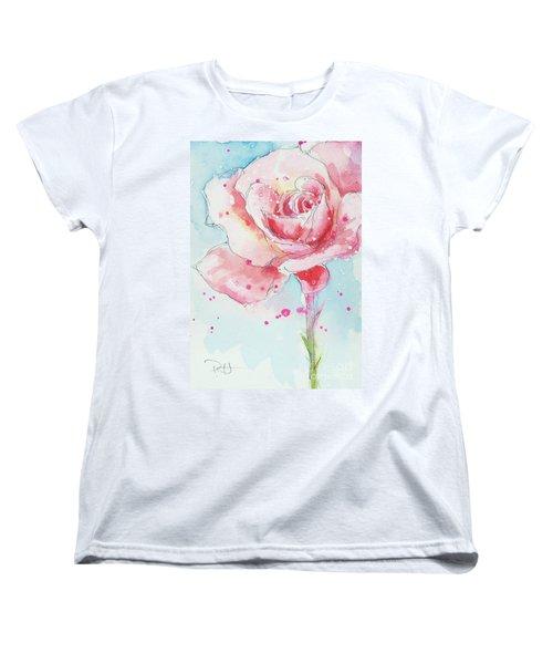Pink Rose Women's T-Shirt (Standard Cut)