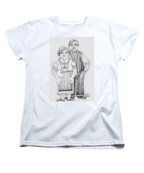 Polish Couple Women's T-Shirt (Standard Cut) by Rachel Hershkovitz